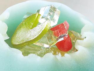 風流堂の上生菓子,涼菓詰合せ夏の庭,水色の和菓子,すいれん鉢,ふうりゅうどう,お中元,2021,summer gift,和菓子,