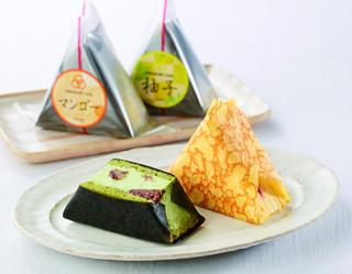 おむすびケーキ,ちぃずと抹茶味,OMUSUBI Cake,お中元,2021,サマーギフト,summer gift,baked sweets,ケーキ,