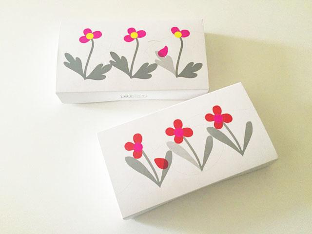 オードリー,アイスグレイシア,2種類のイラストが描かれた箱