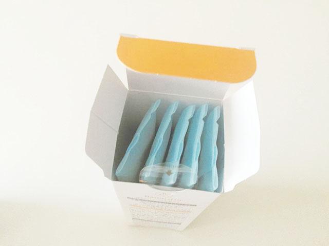 バトンドールクール,夕張メロン,Yubari Melon,箱に5袋の小分け袋が入っている様子