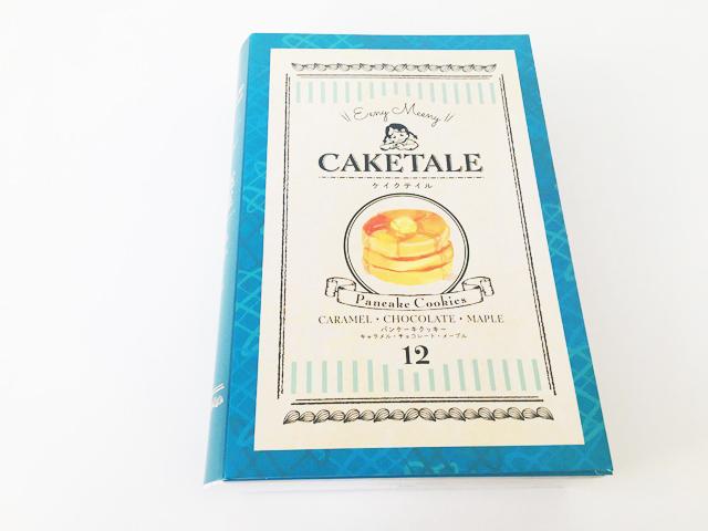 ケイクテイルのパンケーキクッキー12枚入アソートのブルーの縁の箱,CAKE TALE,