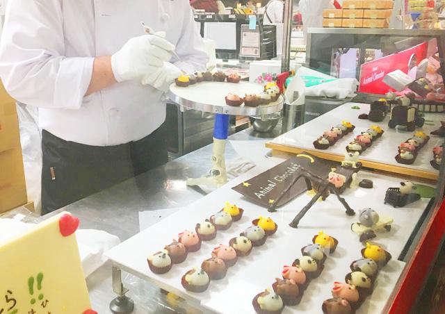 アニマルチョコレートを作っている様子,高島屋,京都バレンタイン,2019,アムール・デュ・ショコラ,