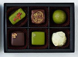 伊藤久右衛門,バレンタイン,2021,ショコラコレクション6の中身,6粒の抹茶とほうじ茶のチョコレート,いとう きゅうえもん,Valentine,chocolate,