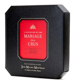 ジャンミッシェルモルトロー,マリアージュ・デ・クル 9個入,八角形の黒いBOXに中央に赤いデザインが施されている,バレンタイン,2021,チョコレート,ジャン=ミッシェル・モルトロー,JEAN-MICHEL MORTREAU,Valentine,chocolate,