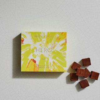 メゾンカカオ,生チョコレート HERO(グリーンレモン)のパッケージと中身,本体価格2400円,2021年度の新作,バレンタイン,2021,チョコレート,MAISON CACAO,Valentine,chocolate,