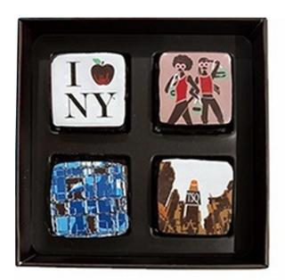 マリベル,ブルーボックス4個入,本体価格2800円,アートガナッシュが4個入っている,バレンタイン,2021,チョコレート,MARIE BELLE,SIGNATURE ART GANACHE COLLECTION,Valentine,chocolate,
