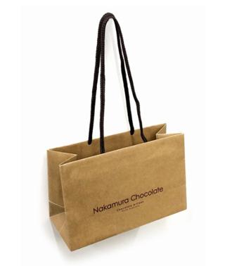 ナカムラチョコレート,ダークセレクション(DS4)のお渡し用のショッピングバッグ,茶色の紙袋,バレンタイン,2021,チョコレート,Nakamura Chocolate,Valentine,chocolate,