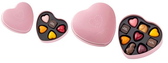 ピエール・マルコリーニ,バレンタイン セレクション,ハートピンク缶,5個入,9個入,バレンタイン,2021,チョコレート,PIERRE MARCOLIN,Valentine,chocolate,
