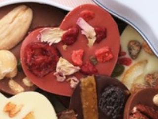ショウダイビオナチュール,マンディアン コフレ クール,苺風味の赤いハート型のマンディアン,ホワイトデー,2021,チョコレート,shoudai bio nature,Whiteday,chocolate,