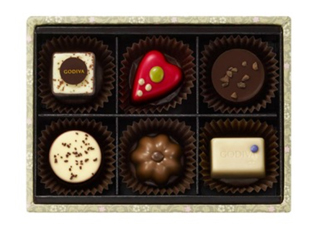 ゴディバ,ティータイム スイーツセットの中身,チョコレートが6粒入っている,ホワイトデー,2021,チョコレート,GODIVA,Whiteday,chocolate,