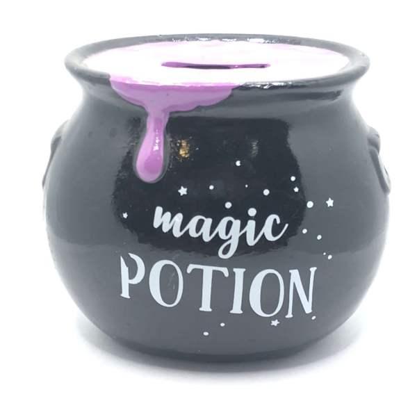 tirelire magic potion violette