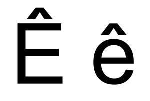 e-chapeau-circonflexe-minuscule-majuscule