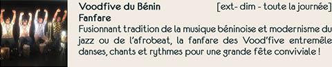 Déambulation Vood Five du Bénin