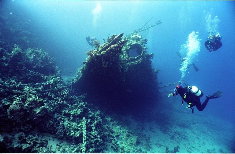 épave en mer d'Iroise