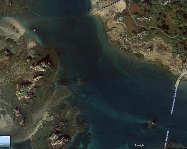 bréhat mouillage vue satellite