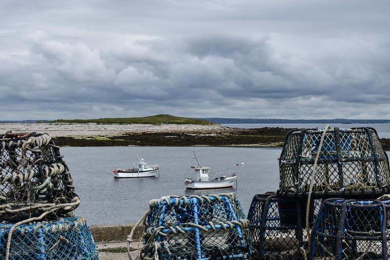 pêcheurs au mouillage à Molène