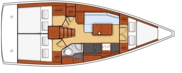 plan d'aménagement de l'oceanis 351
