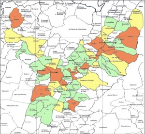 carte des villes de l'exercice Richter 38