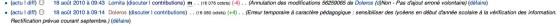 wikipédia annulation de la 1er tentative d'ajout erroné volontaire