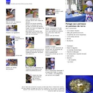Page du livre de cuisine pour les enfants dyslexiques