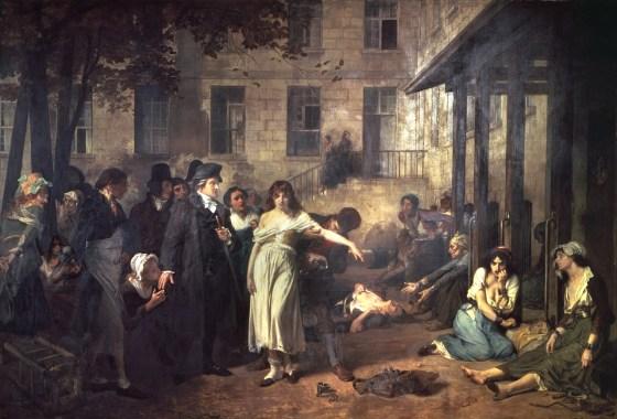 Philippe Pinel libère les fous à la Salpêtrière