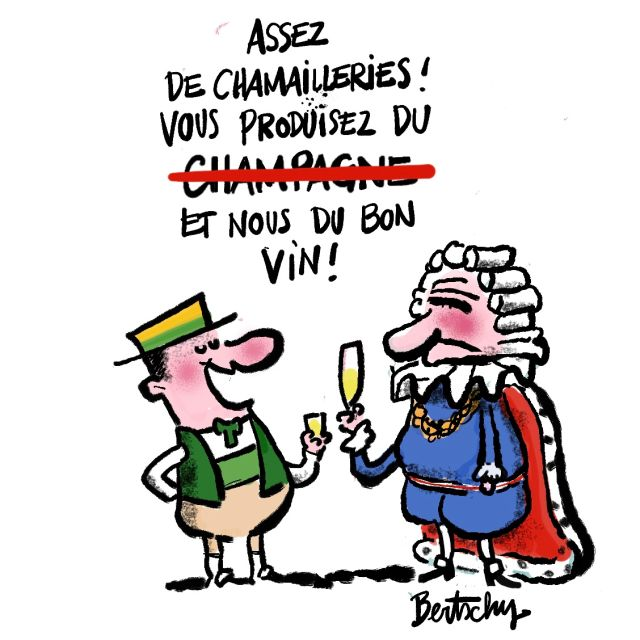 Champagne mousse toujours!