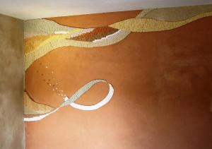 Décor mural sur enduit en terre - Les adobes