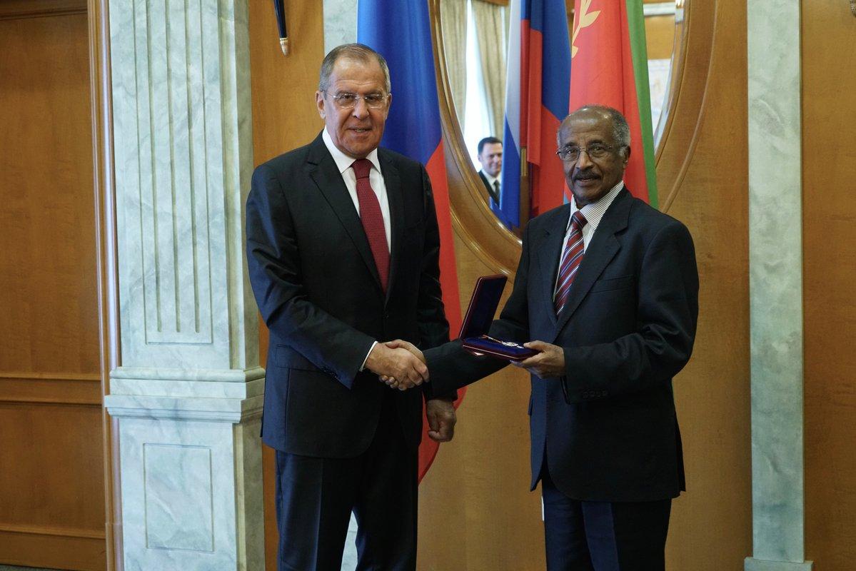 La télévision officielle de lÉrythrée a montré les deux dirigeants, qui ont récemment.