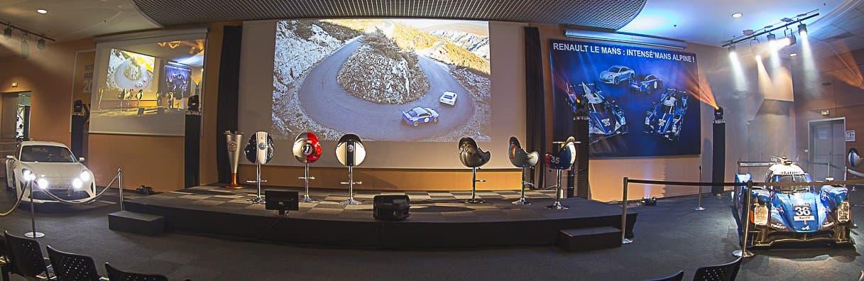 Présentation Alpine VIsion et A460 à l'Usine Renault du Mans