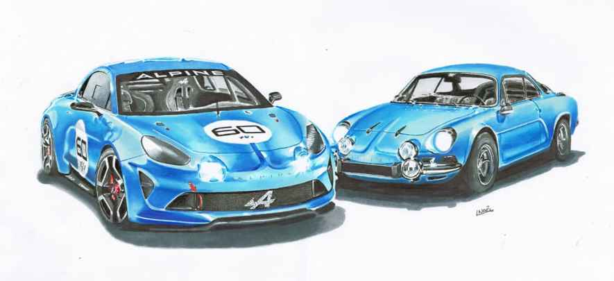 dessin-2015-alpine-a110-a120-drawing-dessin-drawn-realiste-2016-by-dessin-ludo