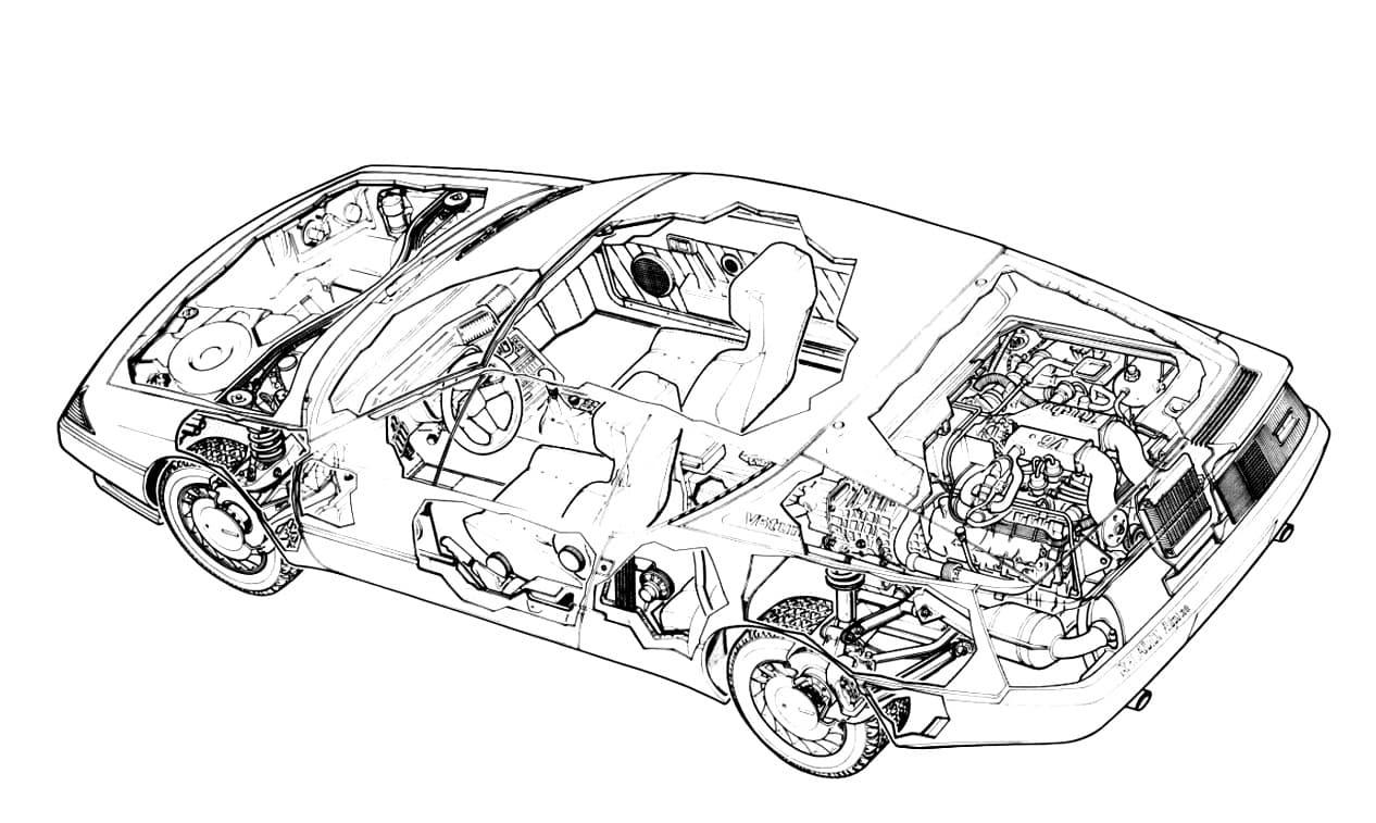 alpine gta turbo ecorche cutaway | Les écorchés Alpine pour révéler tous leurs secrets !