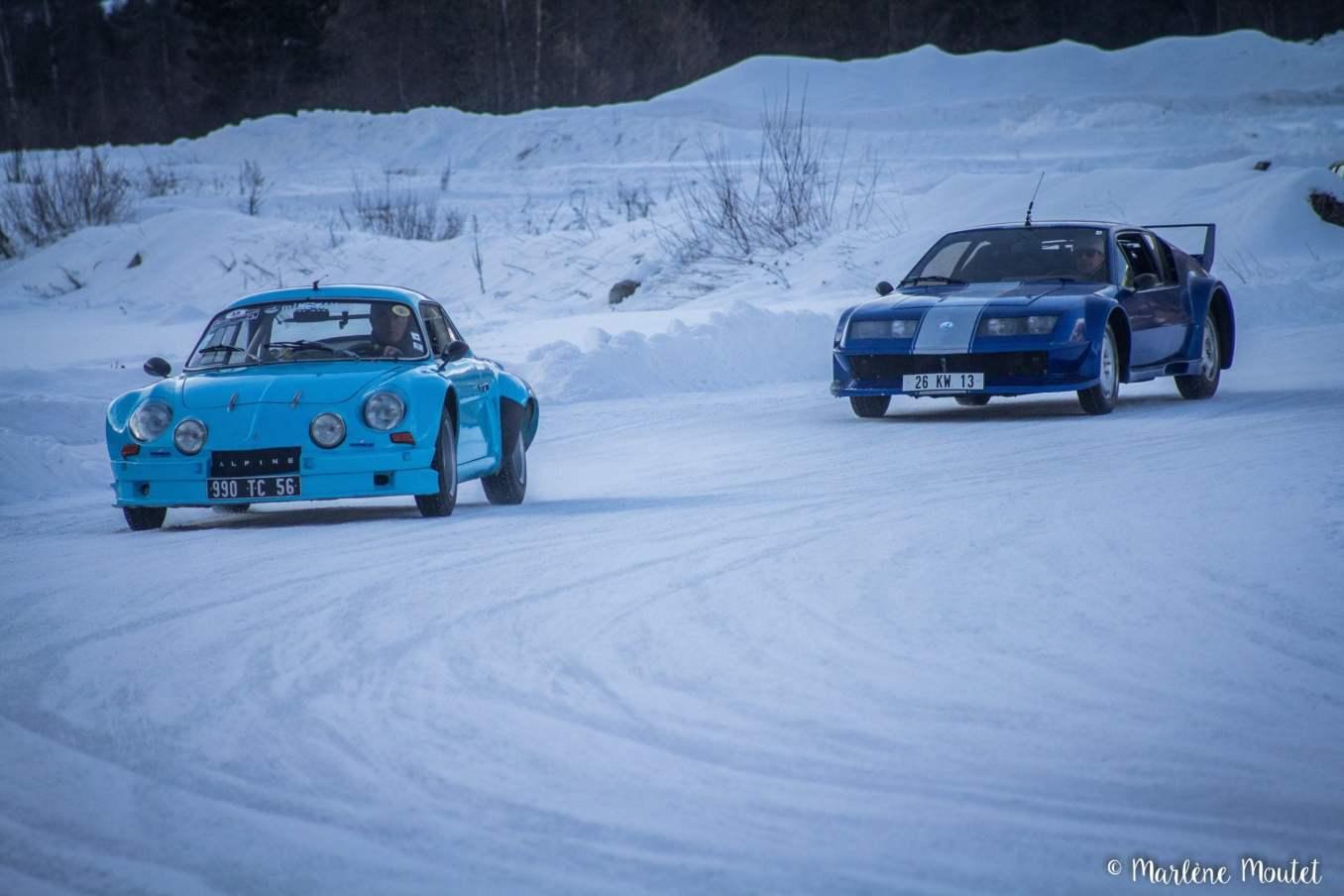 Alpine A110 A310 Orcières piste glace marlene moutet 31 scaled | Des Alpine et 1000 mètres de piste sur glace !