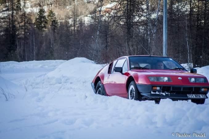 Alpine A110 A310 Orcières piste glace marlene moutet - 35
