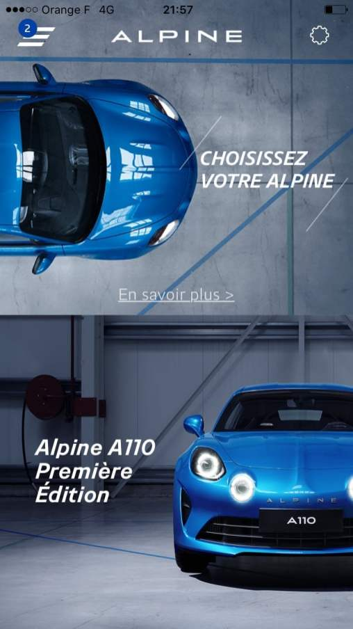 Réserver Alpine A110 iOS Android iTunes mobile - 6