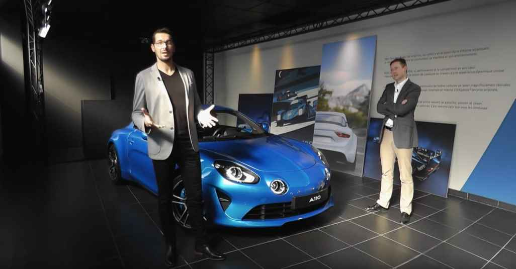 Alpine A110 Showroom Live Sessions - 2