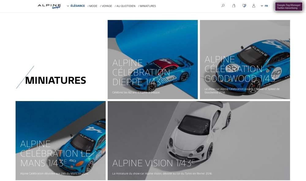 Boutique en ligne Alpine Cars Store Elegance Racing Signatech miniatures sacs bagages vêtements - 3