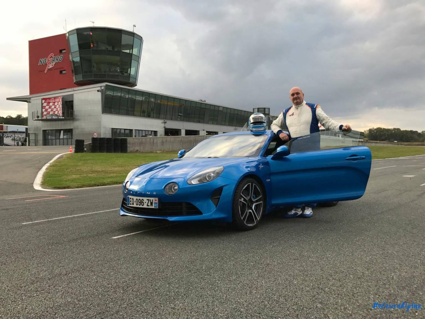 Alpine A110 2017 Philippe Quetaud Circuit Nogaro Première immatriculation 1   La première Alpine A110 immatriculée sur le circuit de Nogaro !