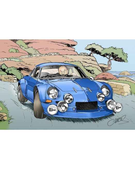 Chris Boyer portfolio Alpine A106 A110 A220 A310 GTA BD Dessin (10)