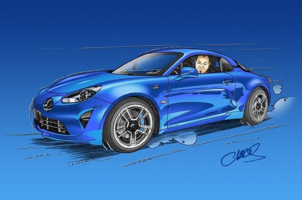 Chris Boyer portfolio Alpine A106 A110 A220 A310 GTA BD Dessin (13)