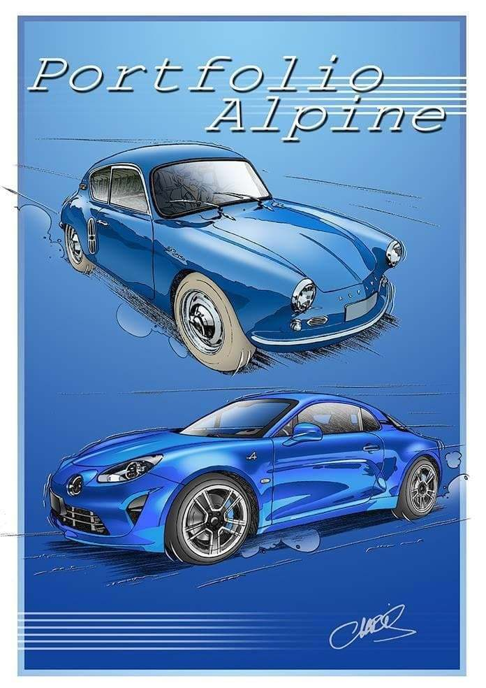 Chris Boyer portfolio Alpine A106 A110 A220 A310 GTA BD Dessin (3)