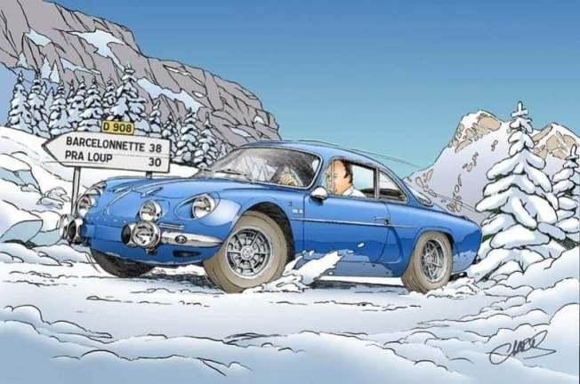Chris Boyer portfolio Alpine A106 A110 A220 A310 GTA BD Dessin (4)