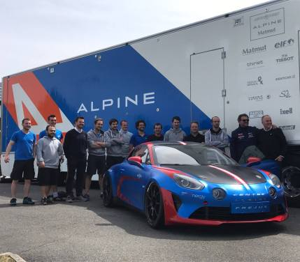 Alpine Planet A110 Europa Cup Signatech Ghostrider racing cmr - 1