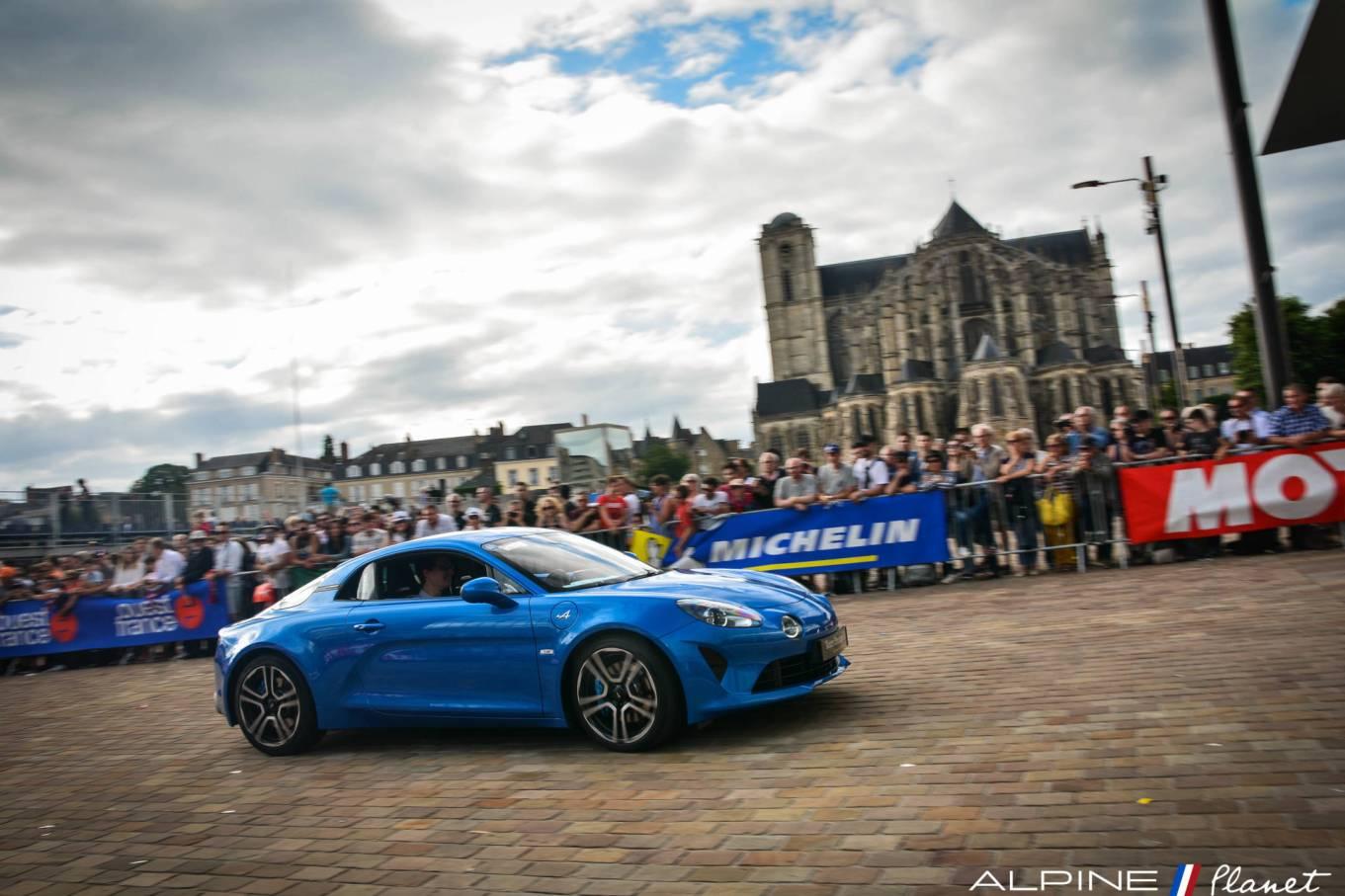 La grande parade des pilotes Alpine