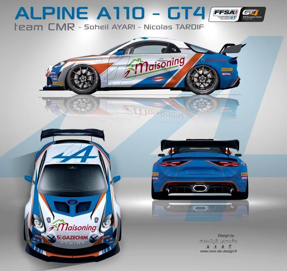 Alpine A110 GT4 CMR FFSA Soheil Ayari nicolas Tardif