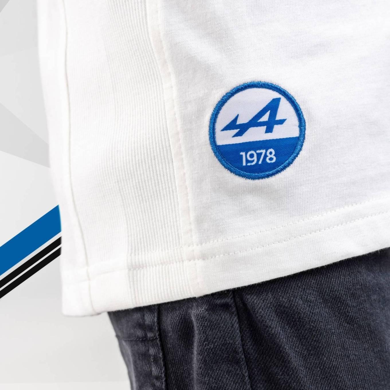 tee shirt enfant blanc 2 Alpine Collection 1978 boutique anniversaire 40 ans 24 heures du mans