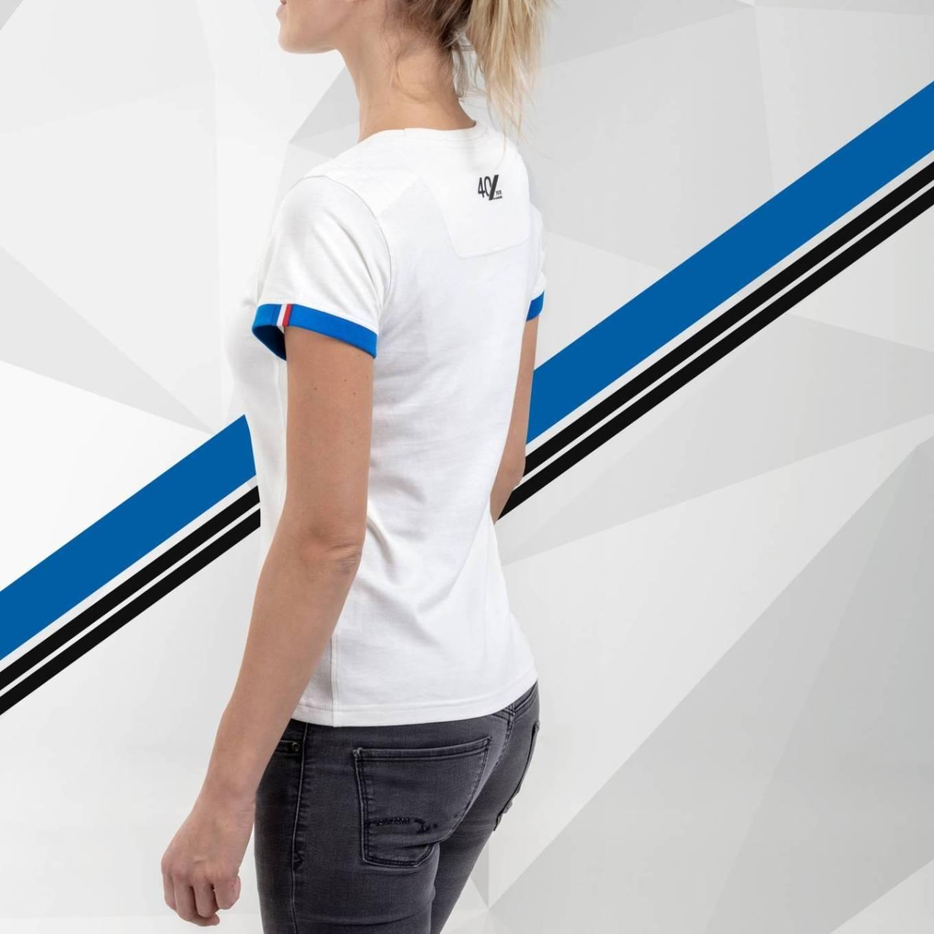 tee shirt femme blanc 2 Alpine Collection 1978 boutique anniversaire 40 ans 24 heures du mans