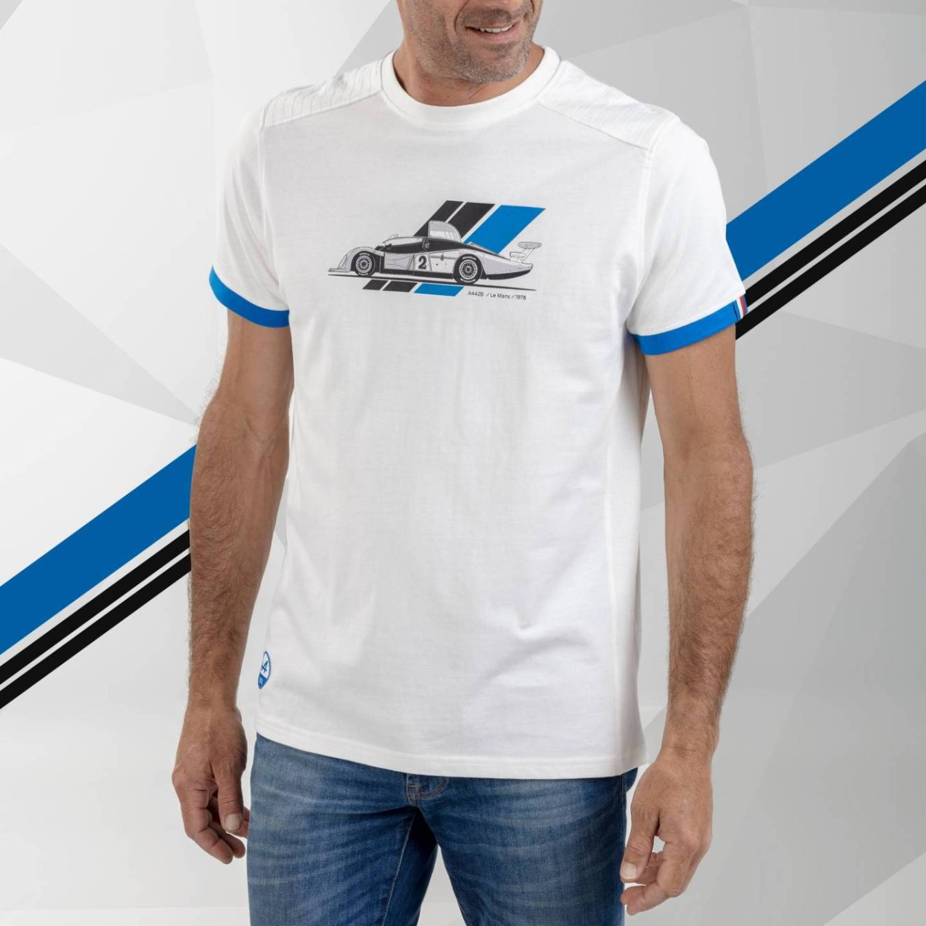tee shirt homme blanc Alpine Collection 1978 boutique anniversaire 40 ans 24 heures du mans