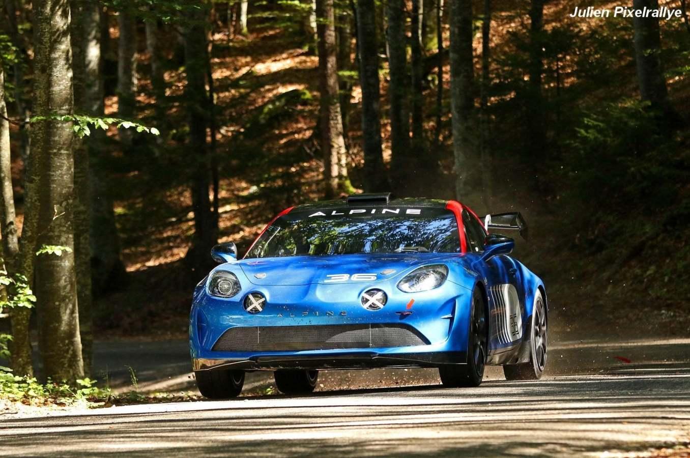 """Alpine A110 R GT Rallye Team FJ Manu Guigou Julien PixelRallye 17   Notre Livre: """"Alpine, le retour en compétition"""" à Rétromobile 2020"""