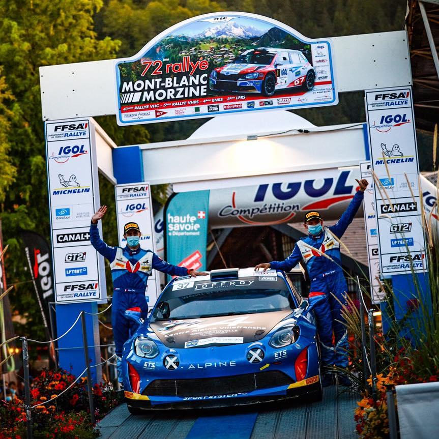 Alpine A110 Rally Mont Blanc Morzine Rallye FFSA 2020 4   Alpine A110 Rally: Carton plein au rallye Mont-Blanc Morzine 2020