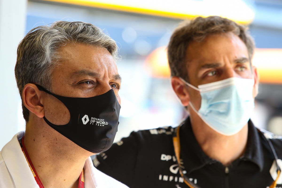 Luca de Meo Cyril Abiteboule Alpine F1 Team | Alpine : Luca de Meo s'inpire de Porsche et de Ferrari pour son expansion